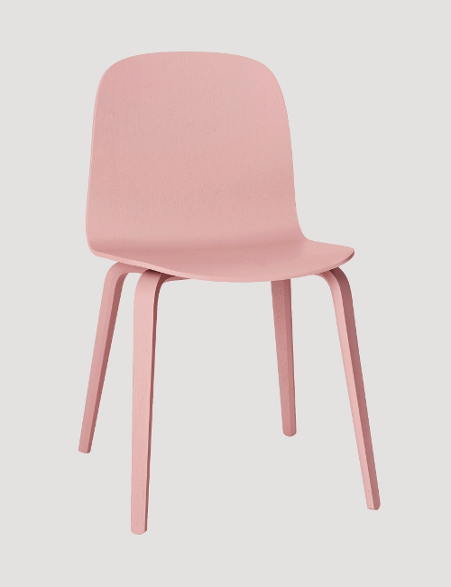 visu woodbase chair in rose via kishani perera blog